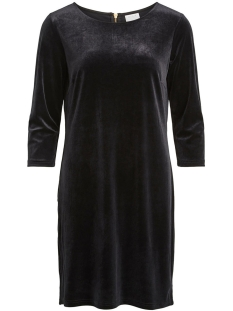 Vila Jurk VIMINNY VELVET 3/4 SLEEVE DRESS 14049619 Black