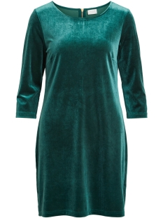 Vila Jurk VIMINNY VELVET 3/4 SLEEVE DRESS 14049619 Bayberry