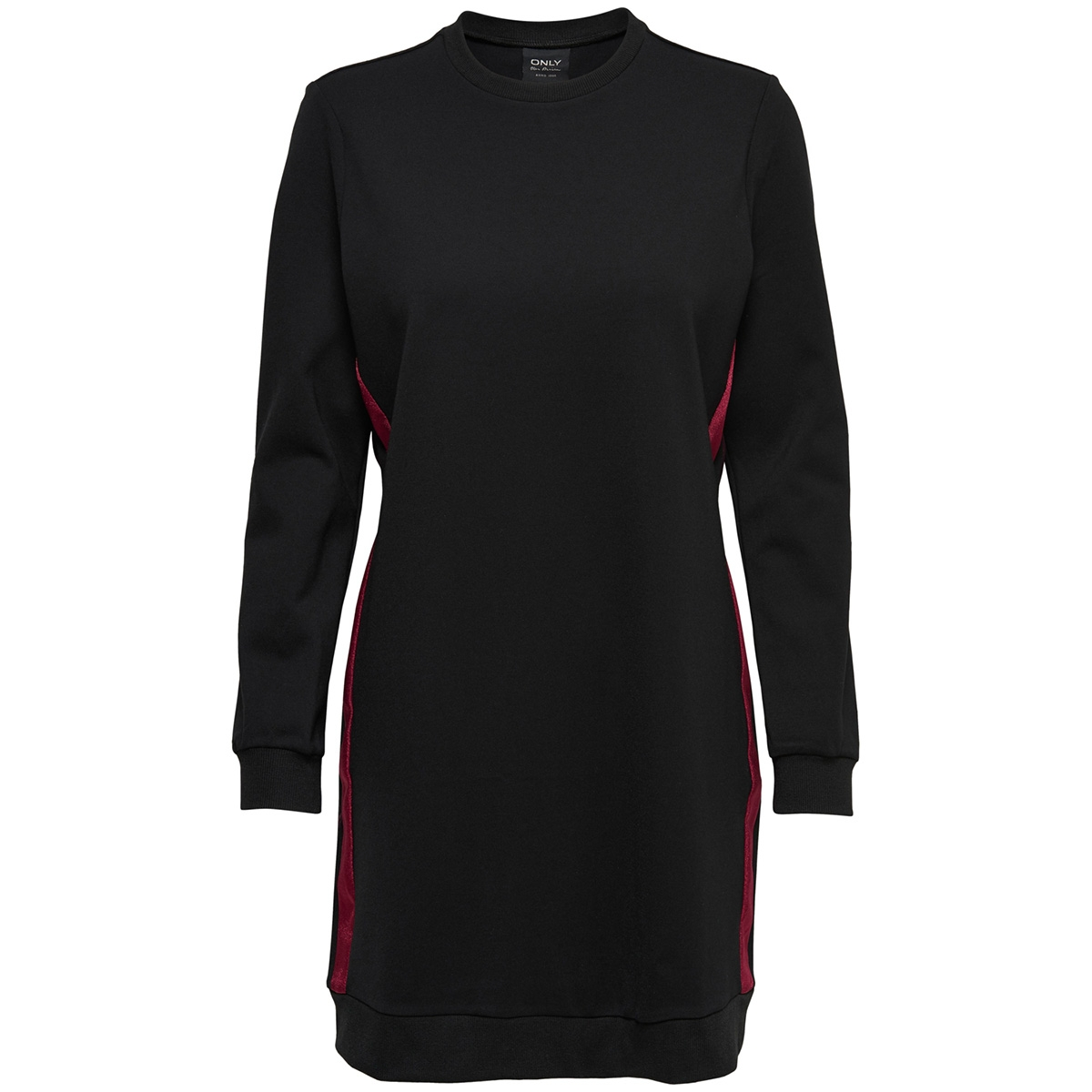 onlpoptrash easy twix sweatdress pn 15165903 only jurk black/red