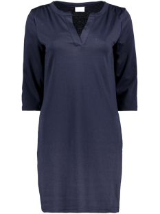 Vila Jurk VITINNY 3/4 SLEEVE V-NECK DRESS 14052539 Navy Blazer