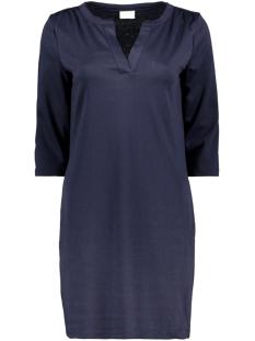 vitinny 3/4 sleeve v-neck dress 14052539 vila jurk navy blazer