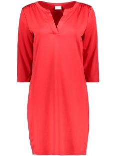 Vila Jurk VITINNY 3/4 SLEEVE V-NECK DRESS 14052539 Tomato Puree