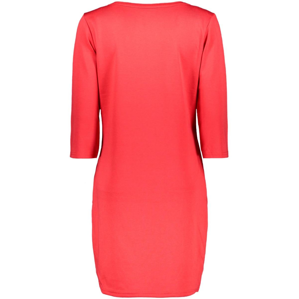 vitinny 3/4 sleeve v-neck dress 14052539 vila jurk tomato puree