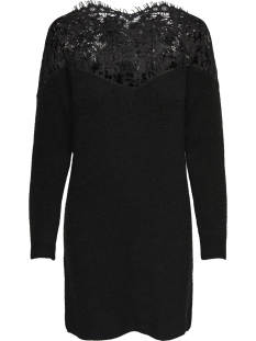 Only Jurk onlHANNA ALLY L/S LACE DRESS KNT 15160831 Black/W. BLACK L