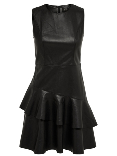 Only Jurk onlEMMA S/L FAUX LEATHER DRESS OTW 15143882 Black