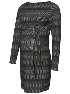 mlvictorie l/s jersey abk dress o. 20009251 mama-licious positie jurk blackblack with