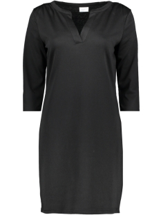 vitinny 3/4 sleeve v-neck dress 14052539 vila jurk black