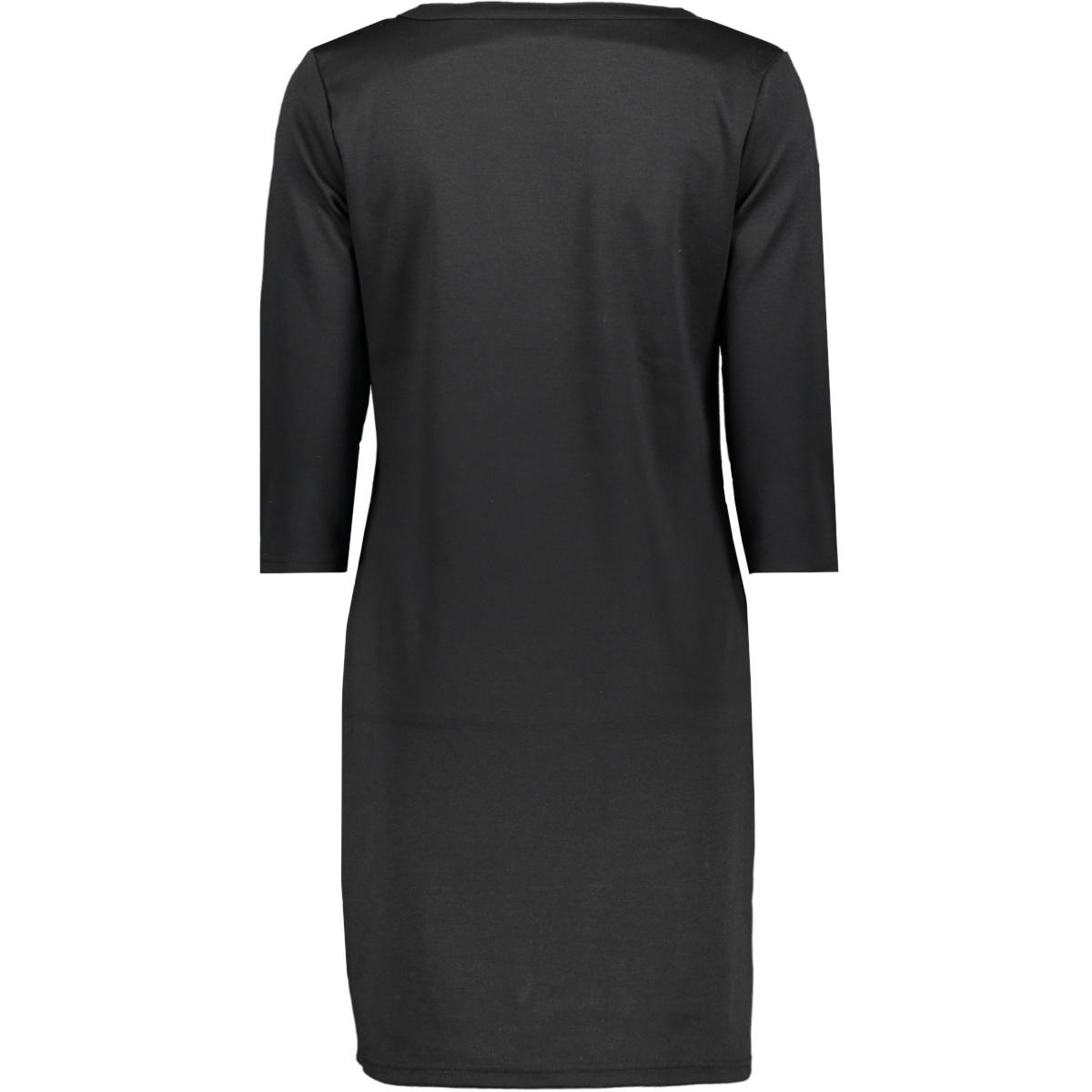 vitinny 3/4 sleeve v-neck dress 14052539 vila jurk black