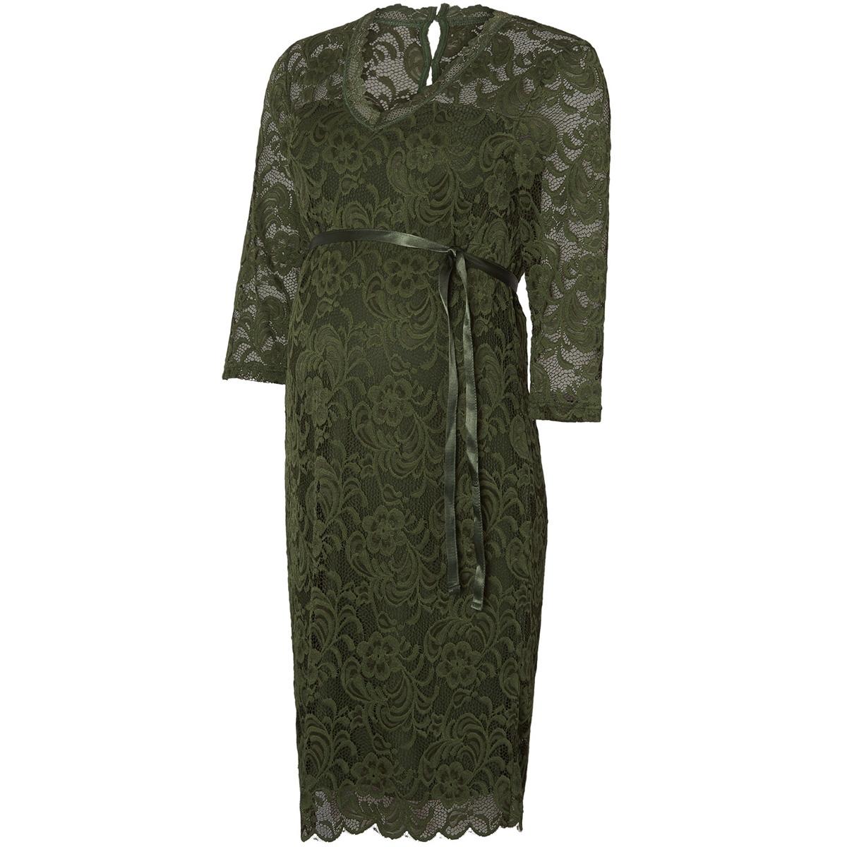mlmivana 3/4 jersey dress 20007260 mama-licious positie jurk thyme