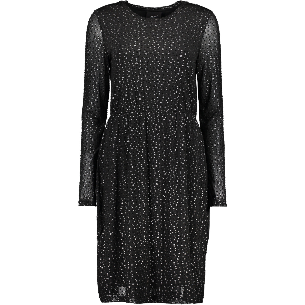 objmonroe new mariann l/s dress 100 23029121 object jurk black