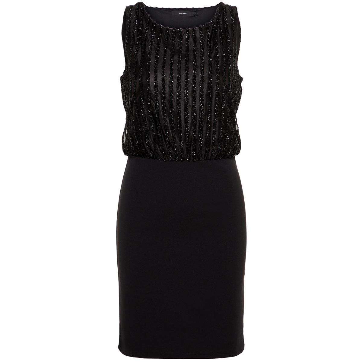 vmshane sl short dress boo 10207332 vero moda jurk black