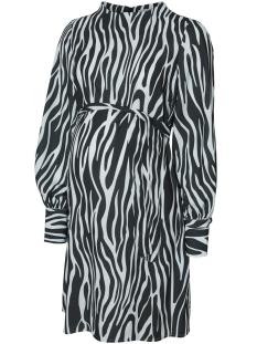 Mama-Licious Positie jurk MLPRICILLA L/S WOVEN DRESS N 20009306 Scarab/GRAY DAWN