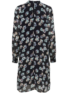 jdyhanna l/s dress wvn 15165908 jacqueline de yong jurk black/grey flower