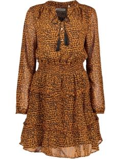Harper & Yve Jurk FW18X906 LEOPARD DRESS ORANGE/ BLACK