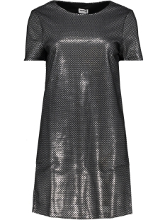 nmnaja s/s short dress 7 27004726 noisy may jurk silver colour/ black