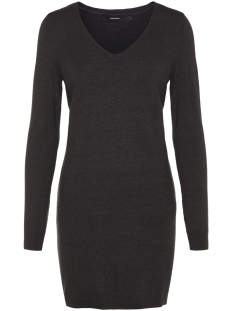 Vero Moda Jurk VMGIN HAPPY LS V-NECK DRESS BOO 10203289 Dark Grey Melange