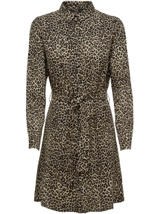 Only Jurk onlJOSEFINE L/S ANIMAL SHIRT DRESS 15179870 Black/LEO 1