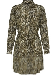 Only Jurk onlJOSEFINE L/S ANIMAL SHIRT DRESS 15179870 Black/SNAKE