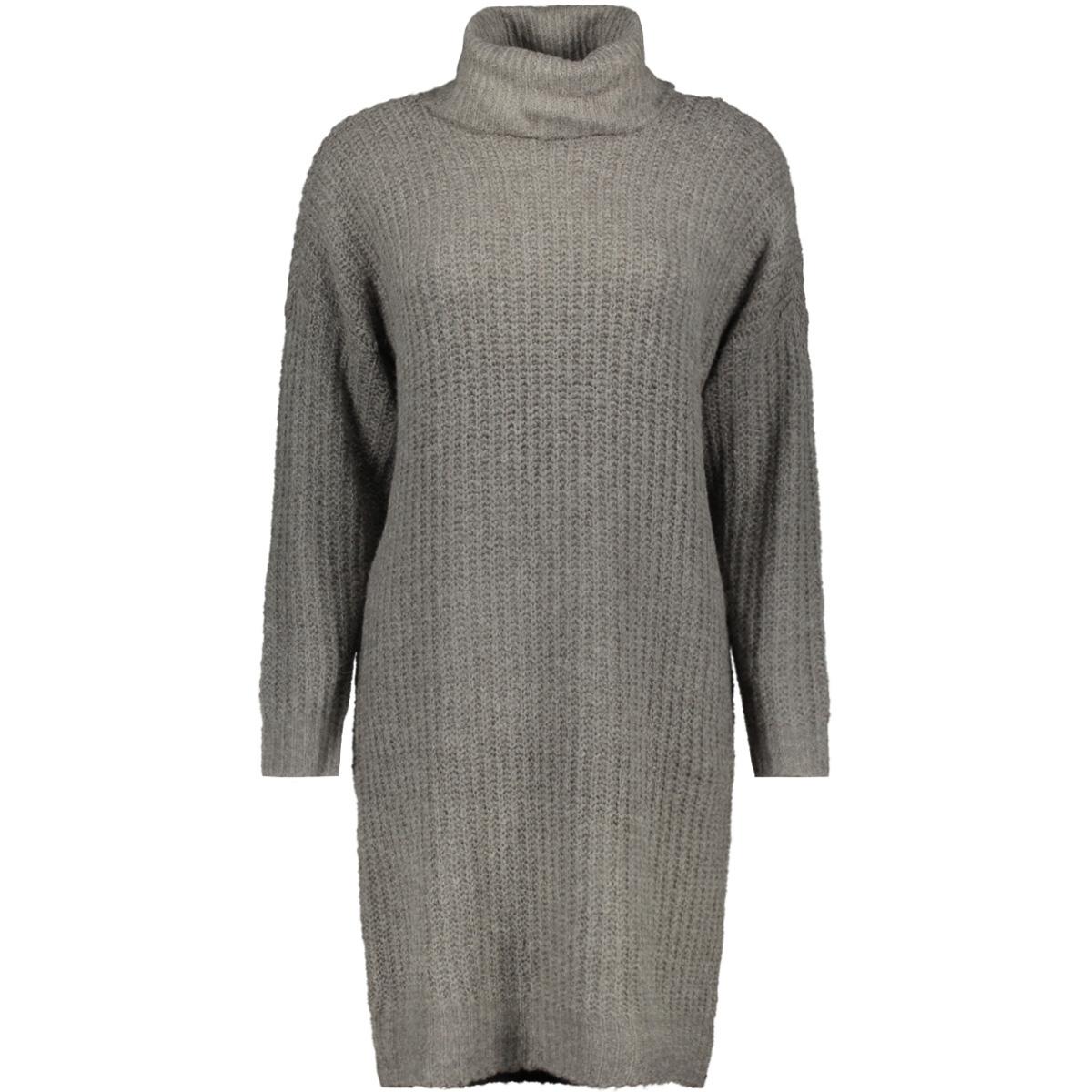 onlvega l/s rollneck dress knt 15160724 only jurk dark grey melange