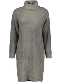 Only Jurk onlVEGA L/S ROLLNECK DRESS KNT 15160724 Dark Grey Melange