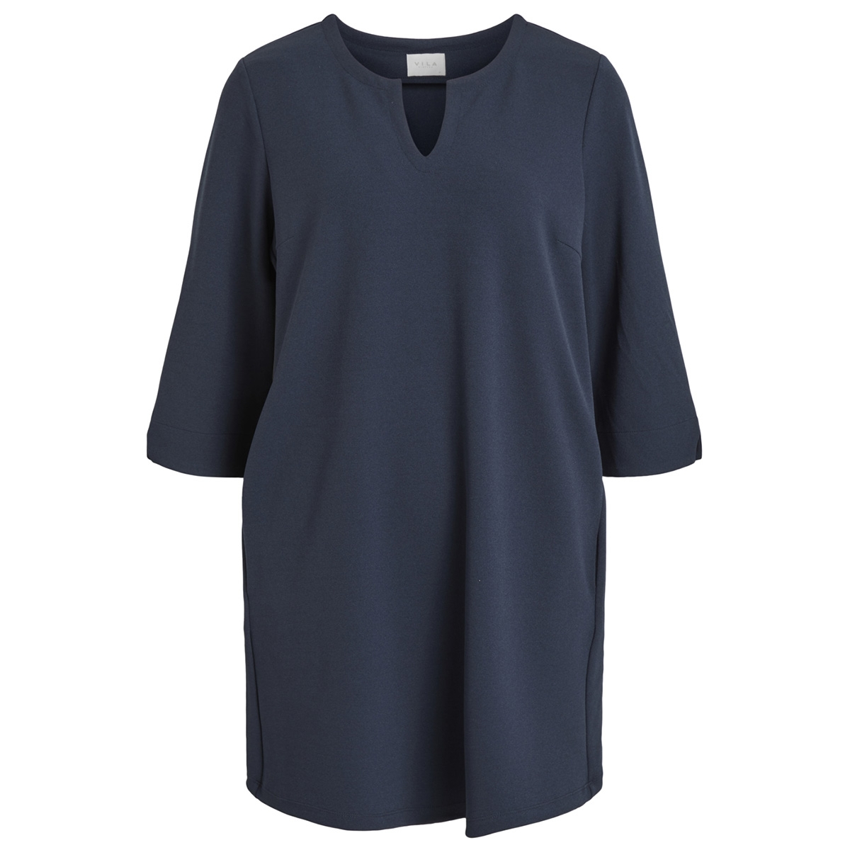 visalli 3/4 sleeve dress/1 14052836 vila jurk total eclipse