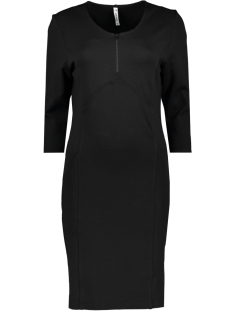 Zoso Jurk HILDE 2 PUNTO DRESS BLACK