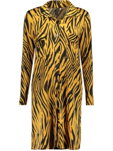 IZ NAIZ Jurk 3320 DRESS Zebra Oker