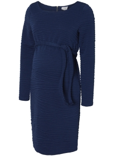 Mama-Licious Positie jurk MLMONIKA L/S JERSEY ABK. DRESS 20009281 Estate Blue