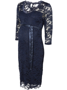mlmivana 3/4 jersey dress 20007260 mama-licious positie jurk estate blue