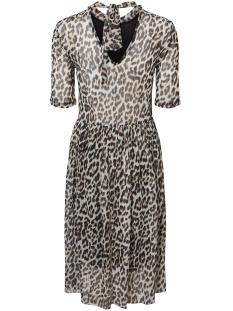 vmtina mesh 2/4 calf dress exp 10202498 vero moda jurk black/leopard
