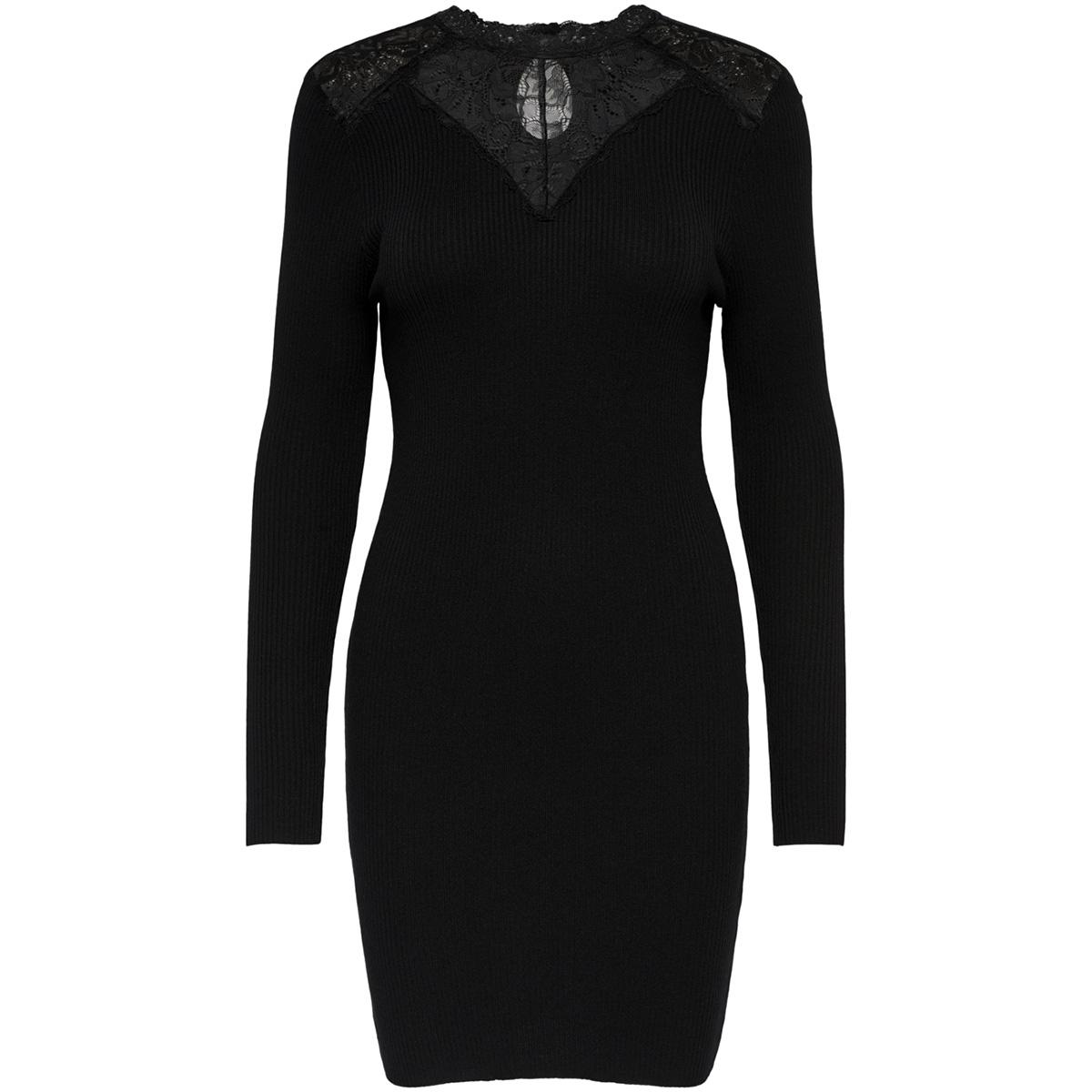 onlilaria l/s dress knt 15165567 only jurk black