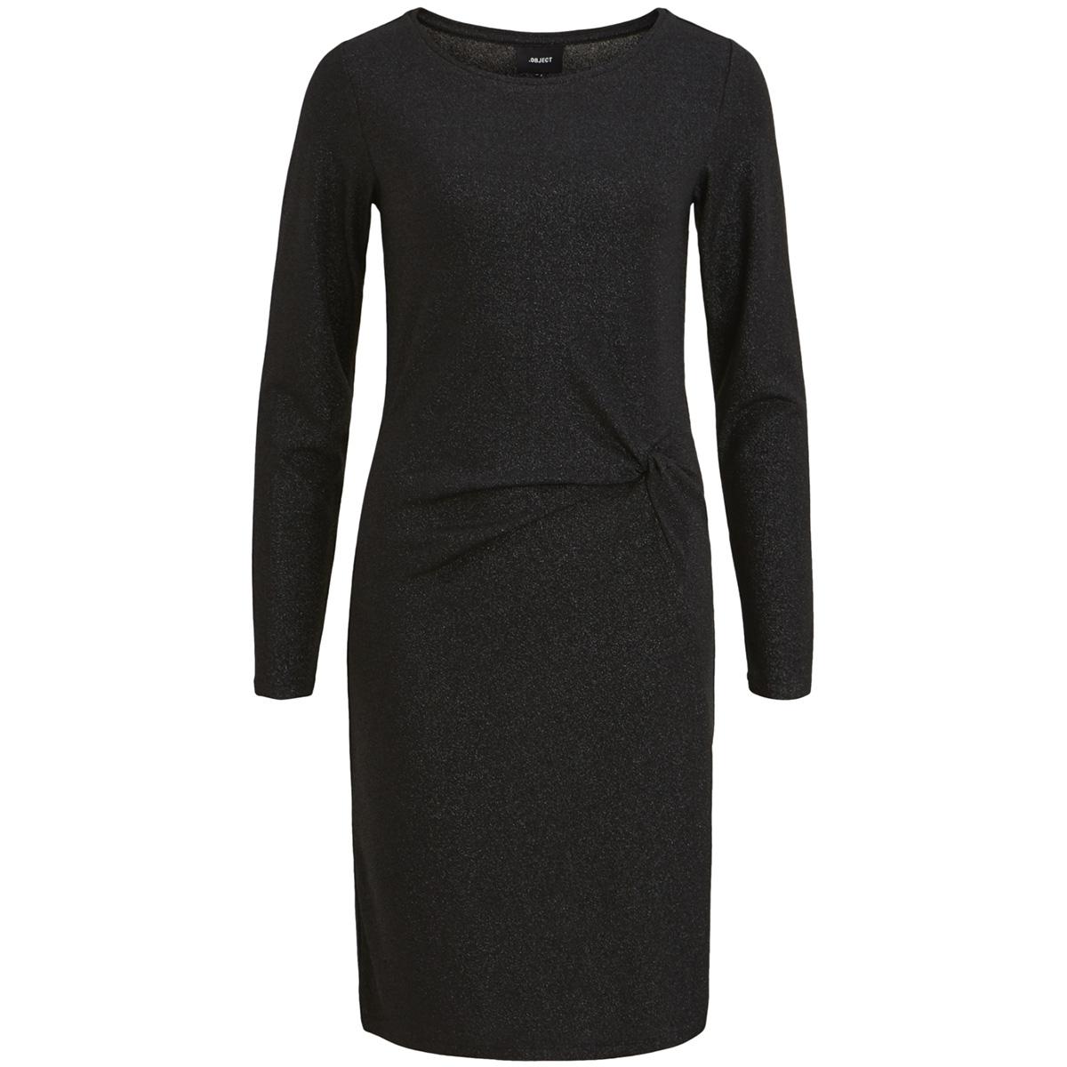 objbananarama new l/s dress .i 100 23029123 object jurk black