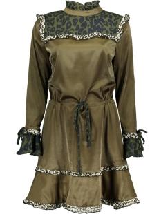 Harper & Yve Jurk FW18X905-70 DRESS LEOPARD Moss Green