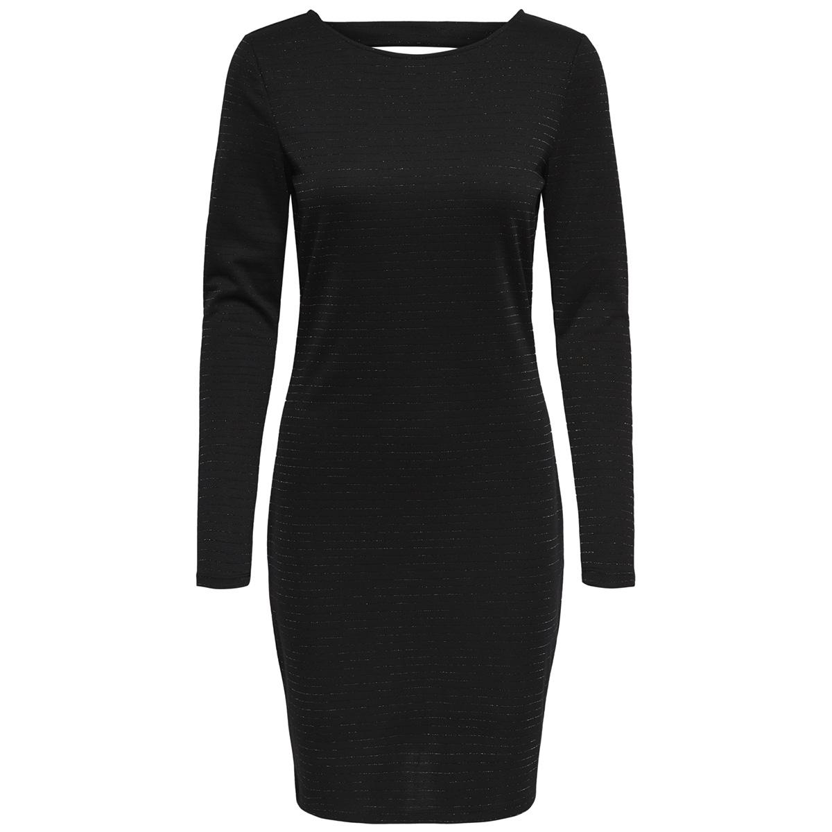 jdyglitter l/s short  dress exp 15170850 jacqueline de yong jurk black/lurex
