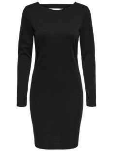 Jacqueline de Yong Jurk JDYGLITTER L/S SHORT  DRESS EXP 15170850 Black/LUREX