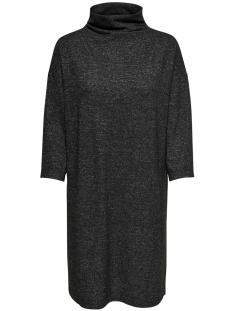 Jacqueline de Yong Jurk JDYALPIN 7/8 HIGH NECK DRESS JRS 15168290 Dark Grey Melange