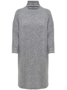 Jacqueline de Yong Jurk JDYALPIN 7/8 HIGH NECK DRESS JRS 15168290 Light Grey Melange