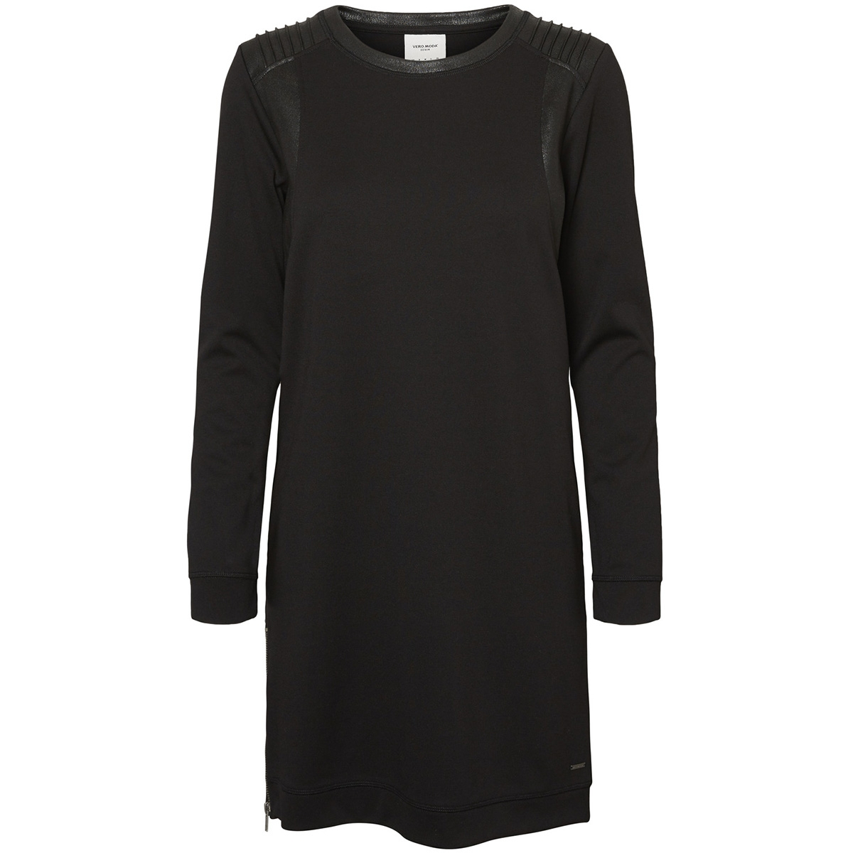 vmcool coating ls short dress rep d 10191098 vero moda jurk black