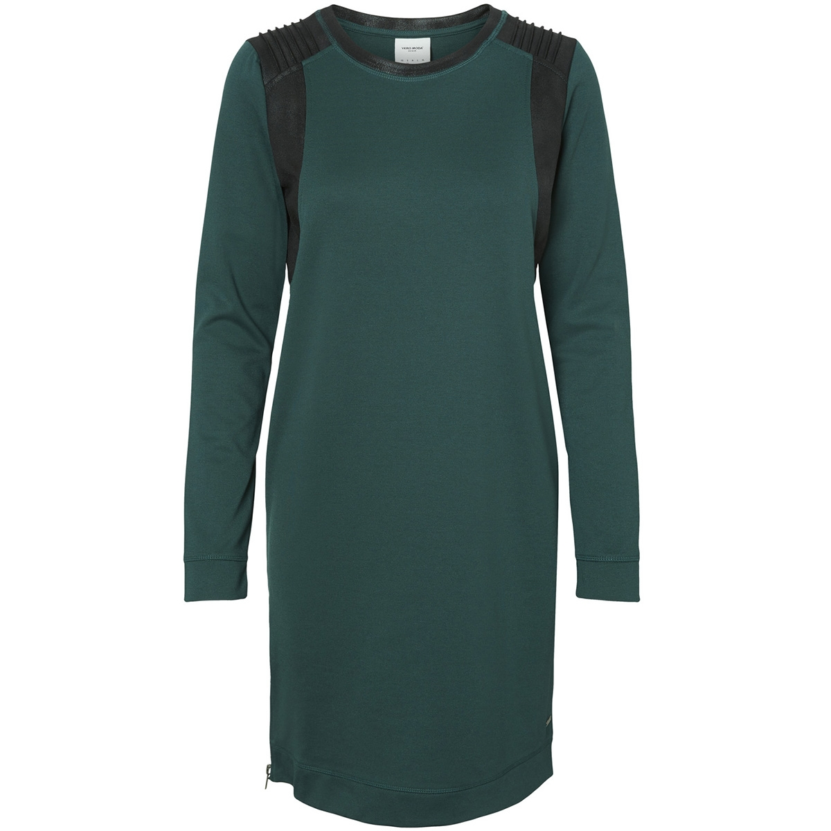 vmcool coating ls short dress rep d 10191098 vero moda jurk alpine green