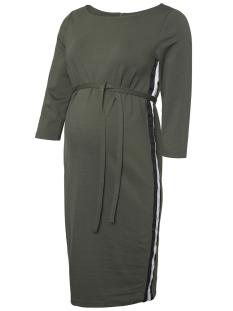 mltine blackie 3/4 jersey abk dres 20009898 mama-licious positie jurk thyme/black & white