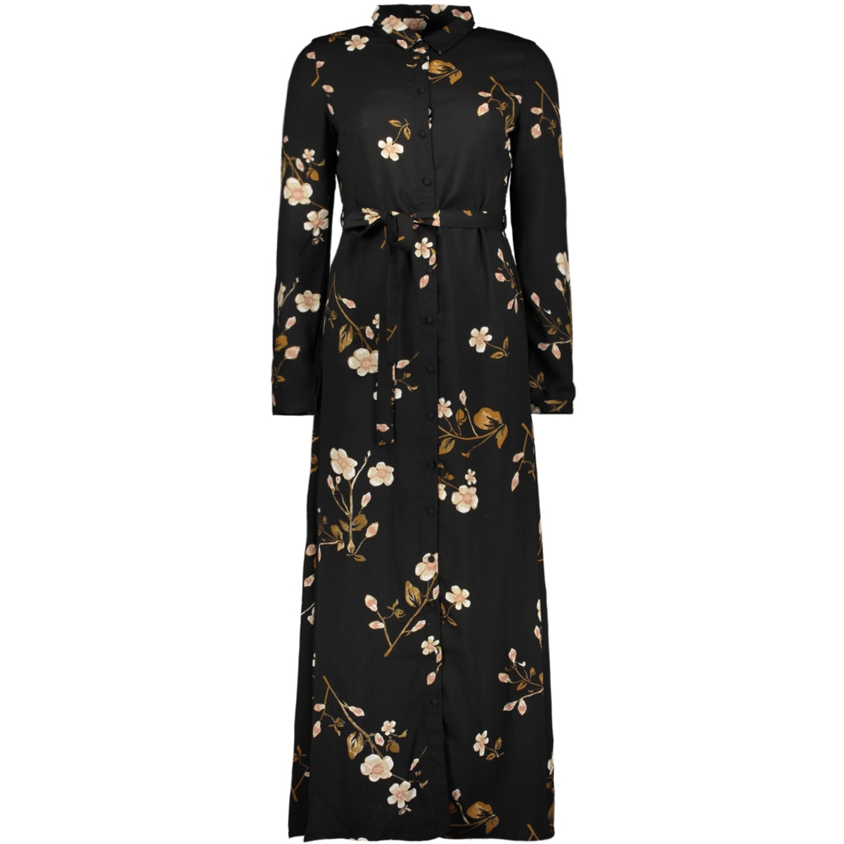 vmcallie l/s maxi shirt dress exp 10216676 vero moda jurk black/callie