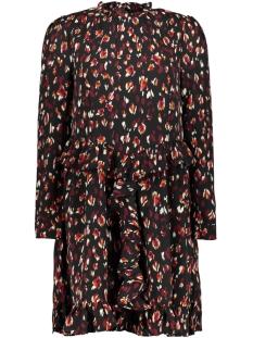 Vero Moda Jurk VMSABBY ZIGGA L/S SHORT DRESS FD18 10214938 Cabernet/SABBY