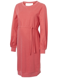 Mama-Licious Positie jurk MLKAYA L/S SWEAT ABK DRESS A.  V. O 20009330 Mars Red/MELANGE