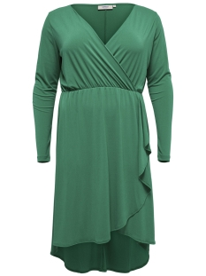 Only Carmakoma Jurk carCAROLEI LS KNEE DRESS 15171295 Cadmium Green