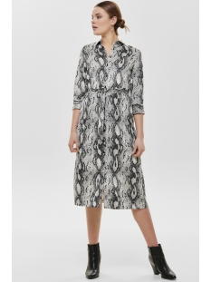 onlsnake 3/4 shirt dress wvn 15181214 only jurk cloud dancer/snake