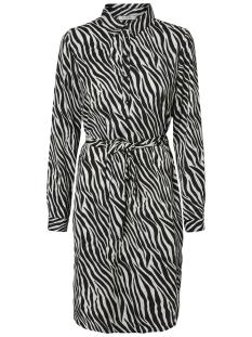 Pieces Jurk PCHANNAH LS SHIRT DRESS D2D 17097816 Bright White/WITH BLACK