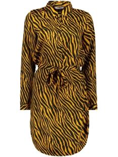 Pieces Jurk PCHANNAH LS SHIRT DRESS D2D 17097816 Inca Gold/WITH BLACK