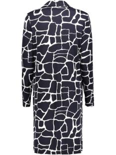 3320 dress print iz naiz jurk navy/white