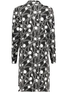 3320 dress print iz naiz jurk black chain