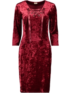 dress velvet iz naiz jurk fuchsia